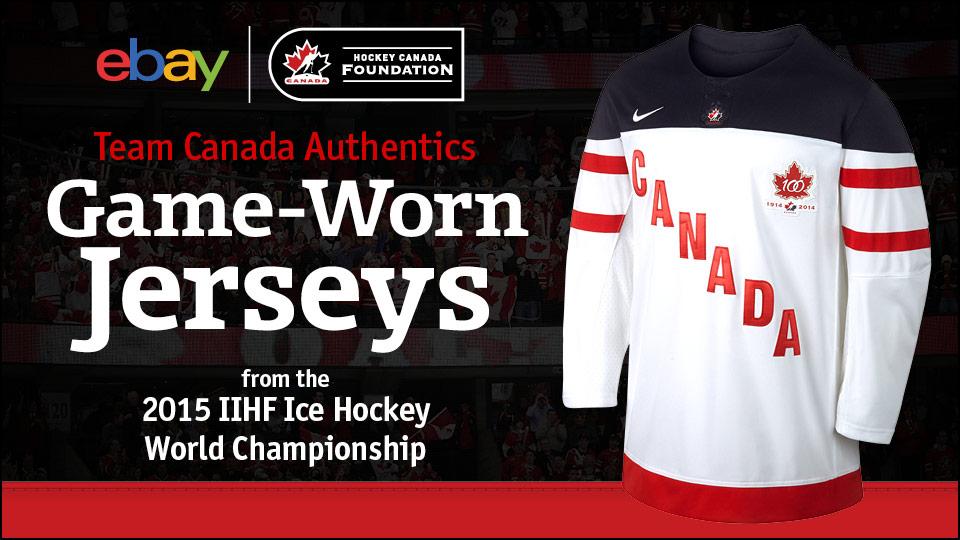 Hockey Canada and ebay.ca offer hockey fans the chance to bid on game-worn  jerseys from 2015 IIHF Ice Hockey World Championship faefb3bca