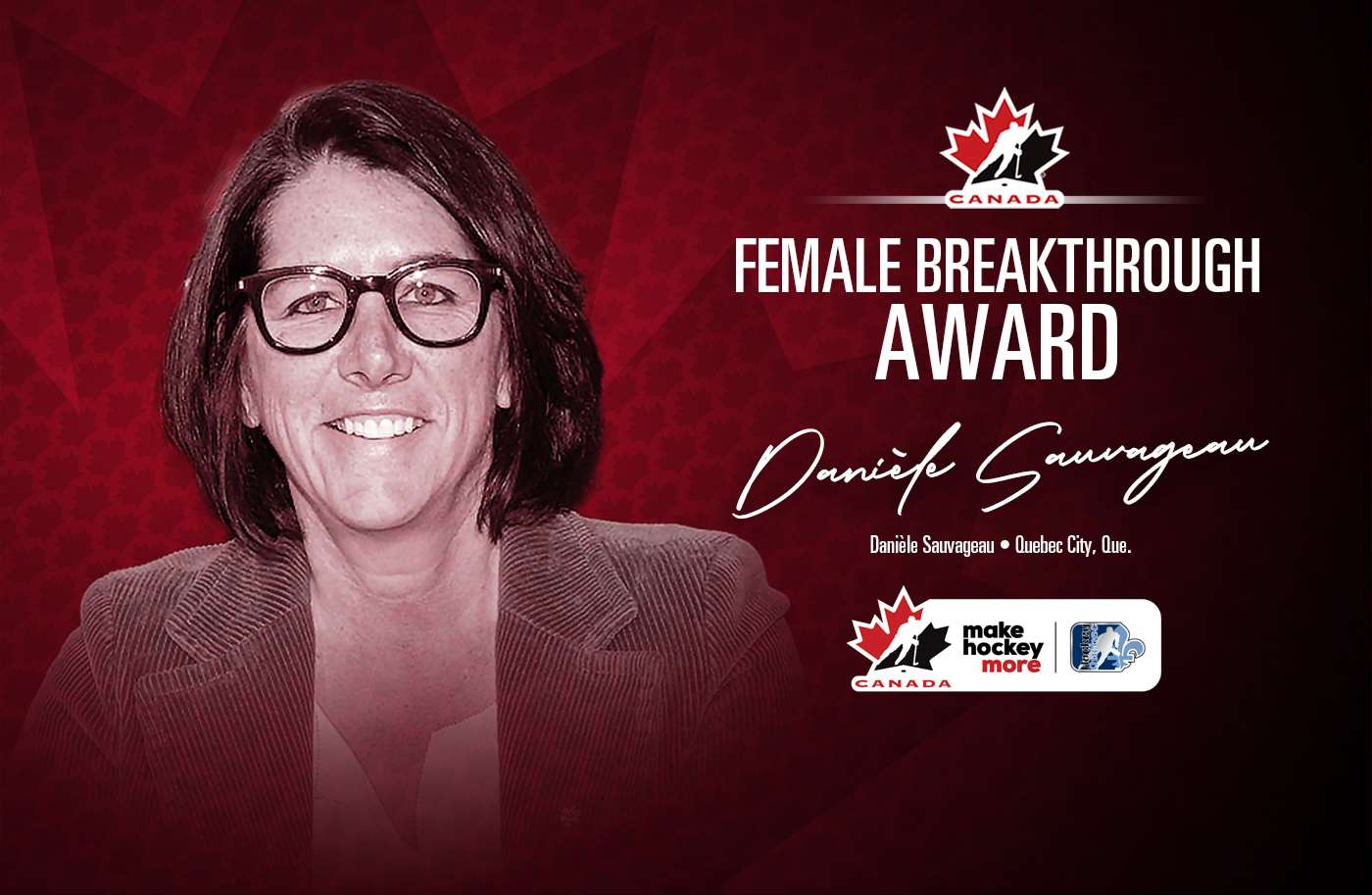 2021 female breakthrough award danièle sauvageau 1400 e