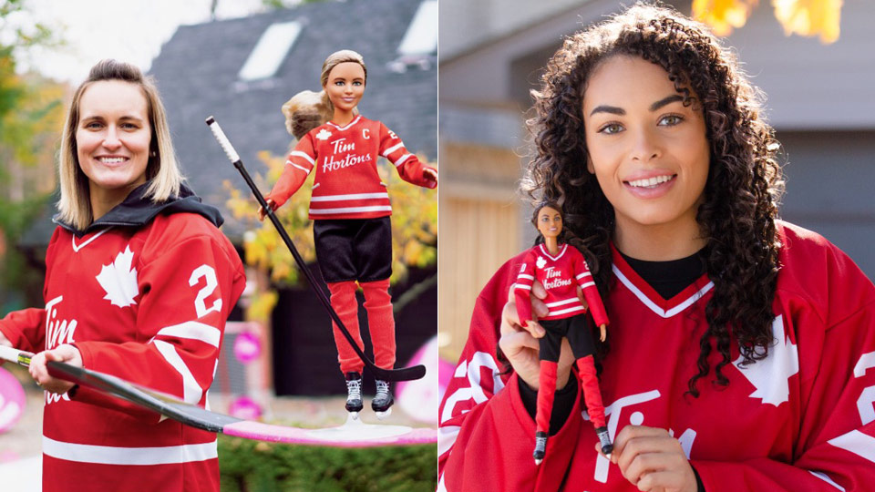 Barbie girl in a hockey world