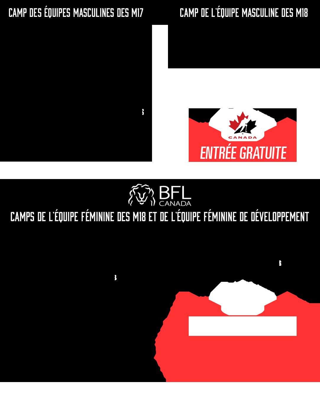 Horaire de la Vitrine estivale d'Équipe Canada
