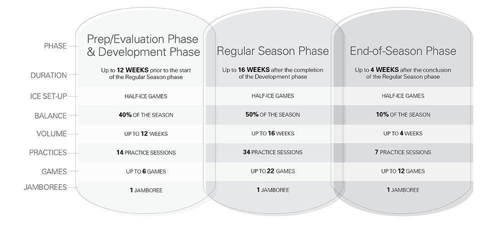 U9 hockey seasonal structure - Option 1