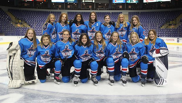 2019 capital region female minor hockey team photo