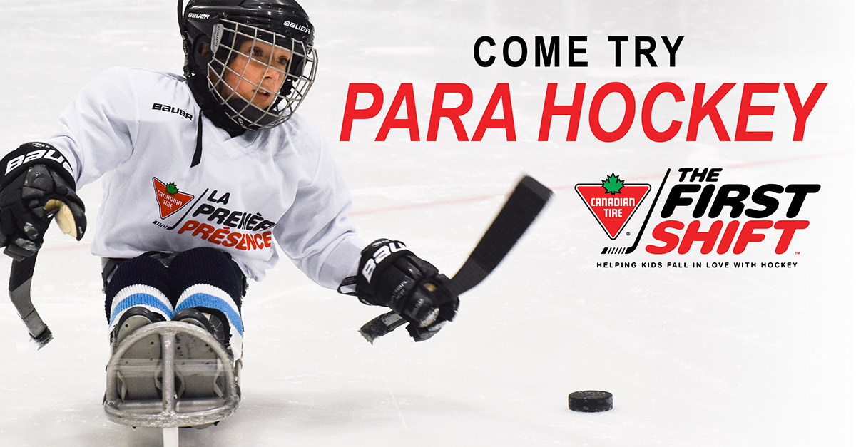 The Canadian Tire First Shift Expands Into Para Hockey