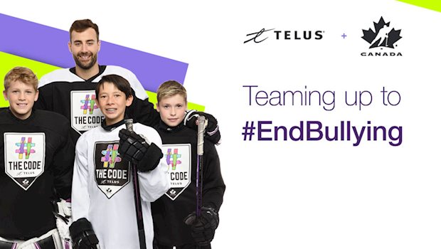 telus the code eberle kids team up e