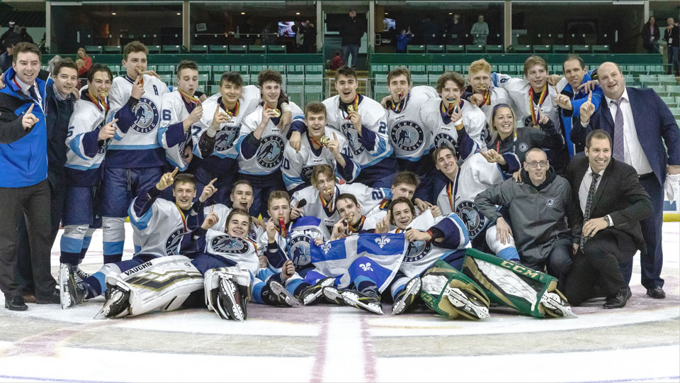 dec26280651 Quebec wins men s hockey gold at 2019 Canada Winter Games