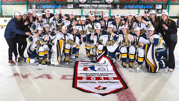 2019 esso cup st albert gold medal team photo
