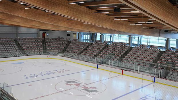 arena hc logo on ice