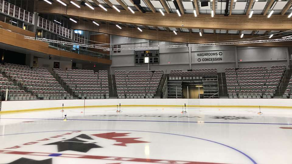 winsport arena empty stock