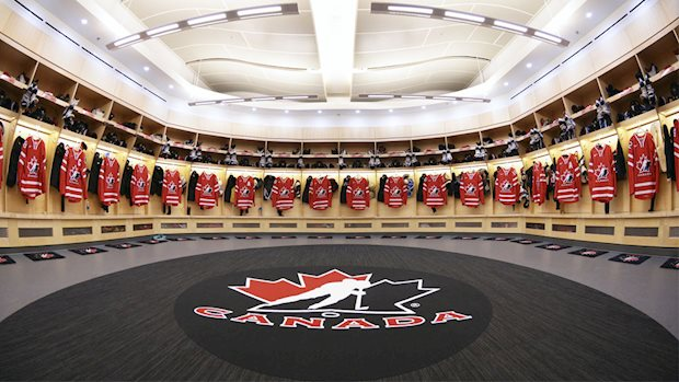 team canada dressing room