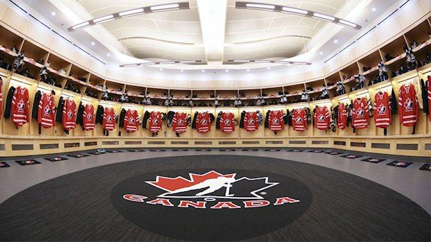 team canada dressing room