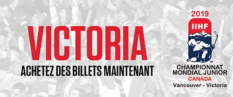 Billets pour le Mondial junior 2019 - Victoria