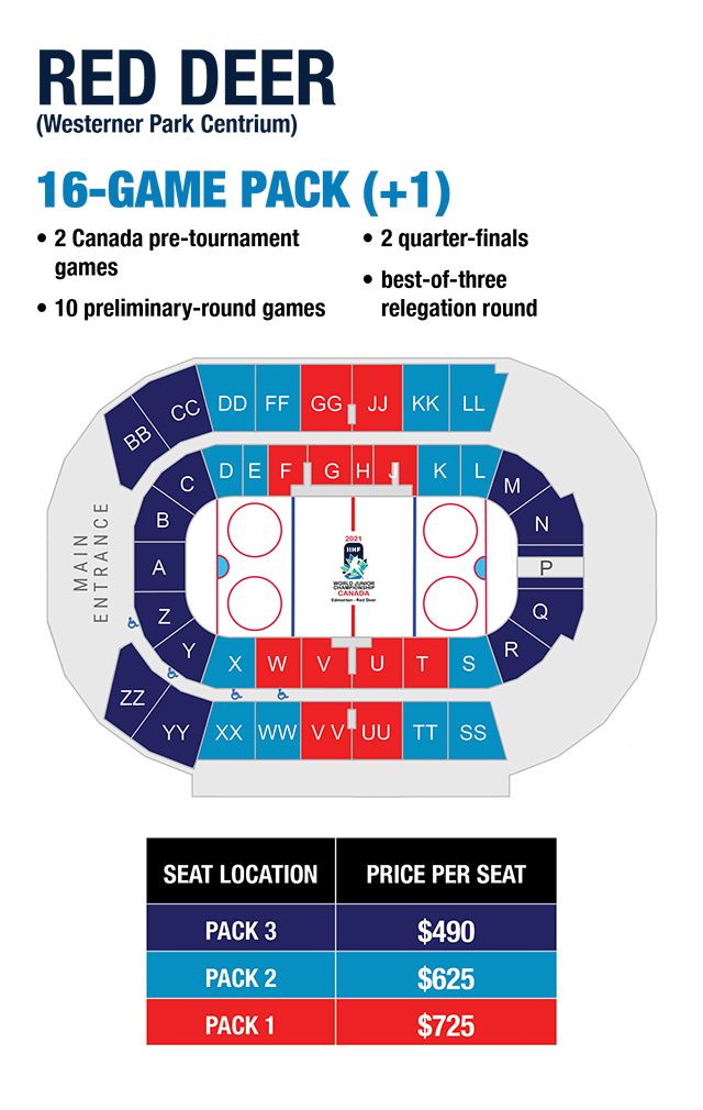 2021 World Juniors - Red Deer ticket info