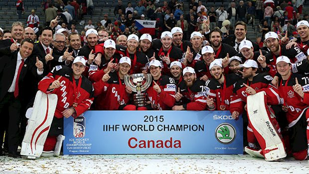 Originally Represented By Club Teams Canadas Entry At The Iihf Ice Hockey World Championship Has Since  Been Comprised Of Nhlers Whose Teams Failed
