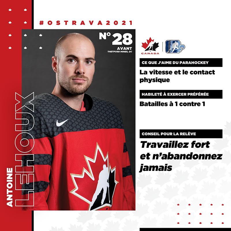 Profils de joueurs - Antoine Lehoux