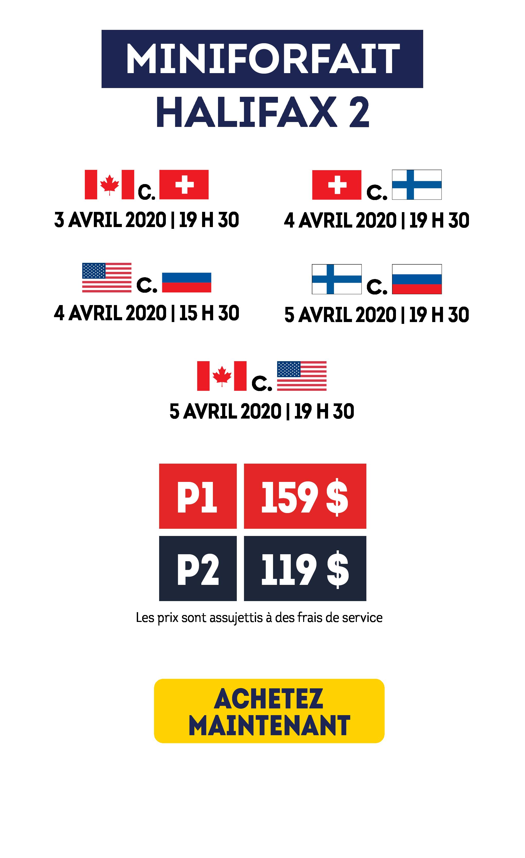 Billets de hockey pour le Mondial féminin 2020