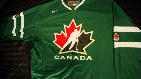 Hockey Canada Unveils Green Jerseys for 2010 IIHF World Junior ... 170e30d3576